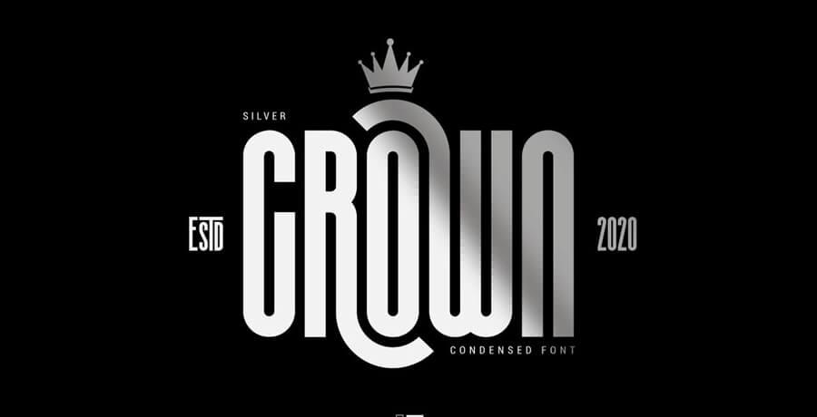 Best Font - Silver Crown