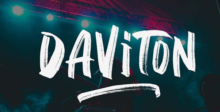 Best Font For Posters - Daviton SVG Freestyle