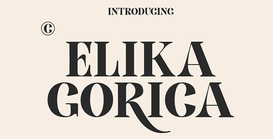Fonts For Posters - Elika Gorica