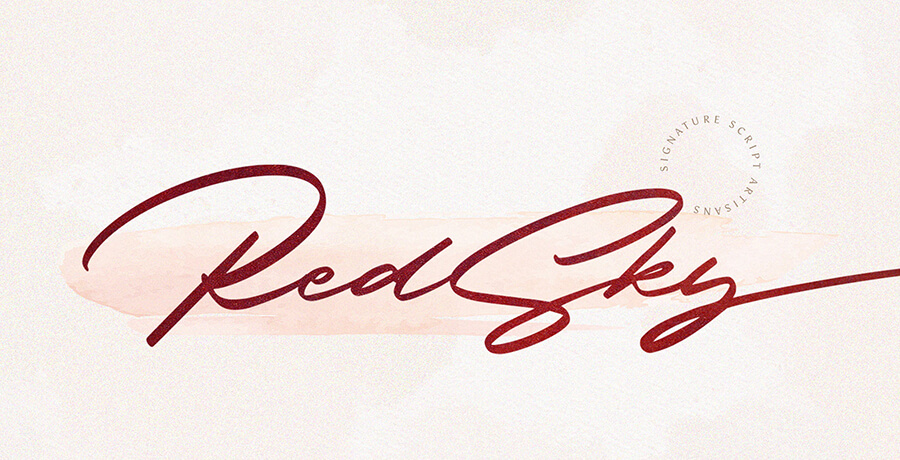 Good Font For Poster - Red Sky Signature
