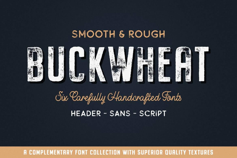 Best Premium Font For Designers - Buckwheat