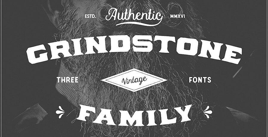 Vintage Font For Designer - Grindstone