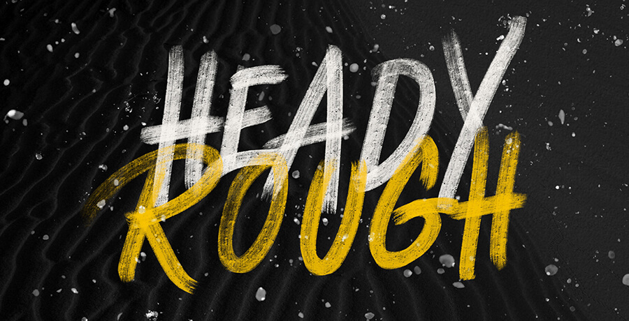 Good Font For Poster - Heady Rough