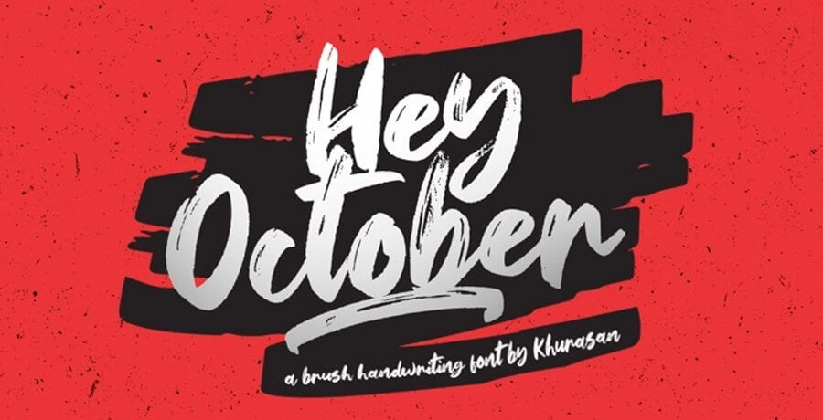 Premium Vintage Font For Graphic Designer - Hey October