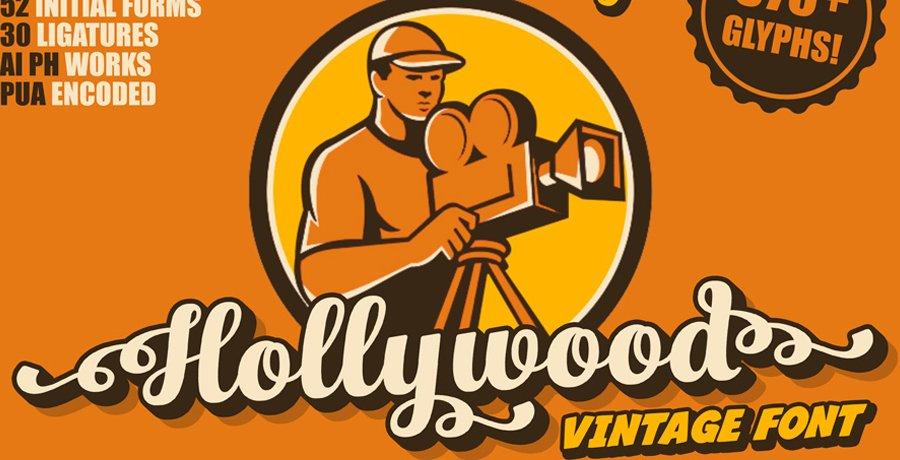 Vintage Best Font - Hollywood