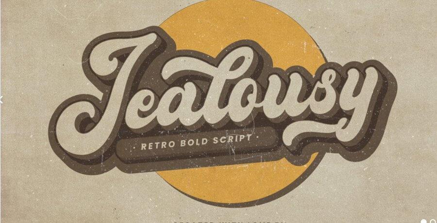 Vintage Font For Designer - Jealous