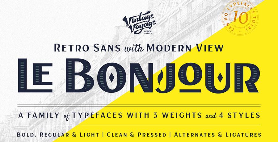 Best Poster Fonts - Le Bomjor