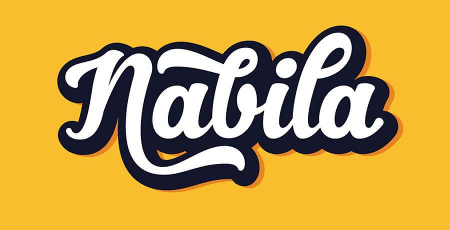 Poster Font For Designers - Nabila Script