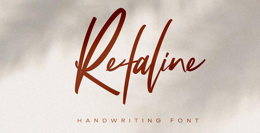 Good Font For Poster - Refaline Script
