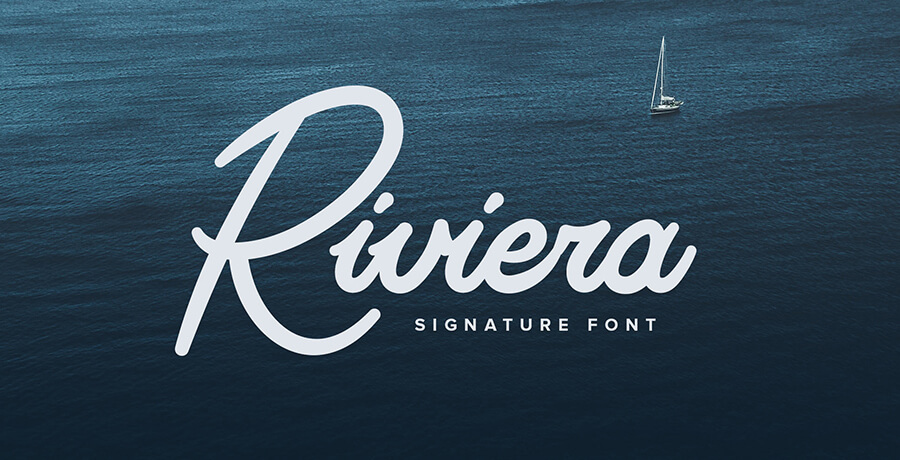 Good Font For Poster - Riviera Signature