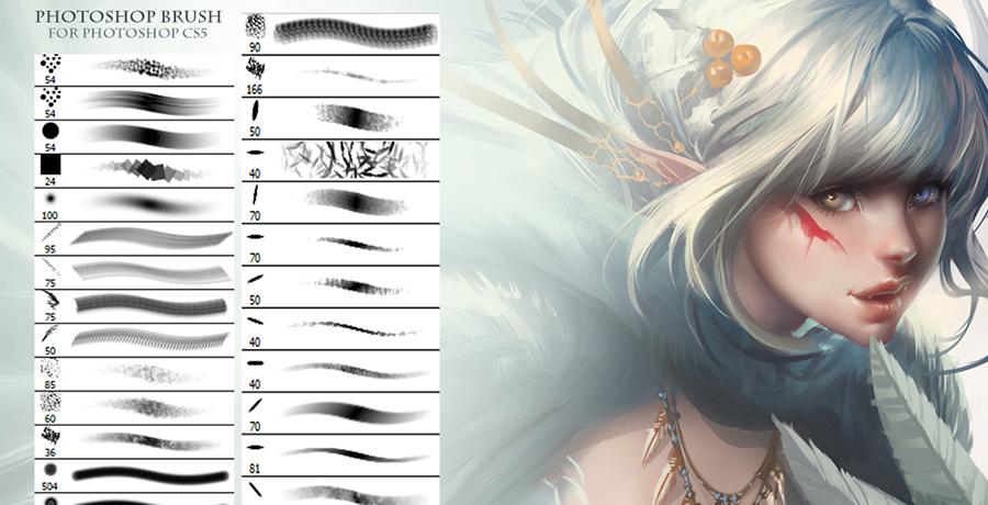 Photoshop Brushes For Designers - Sakimichan