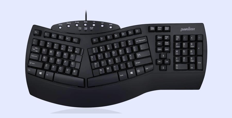 Best Keyboard For Graphic Design - Perixx Periboard-512 Ergonomic