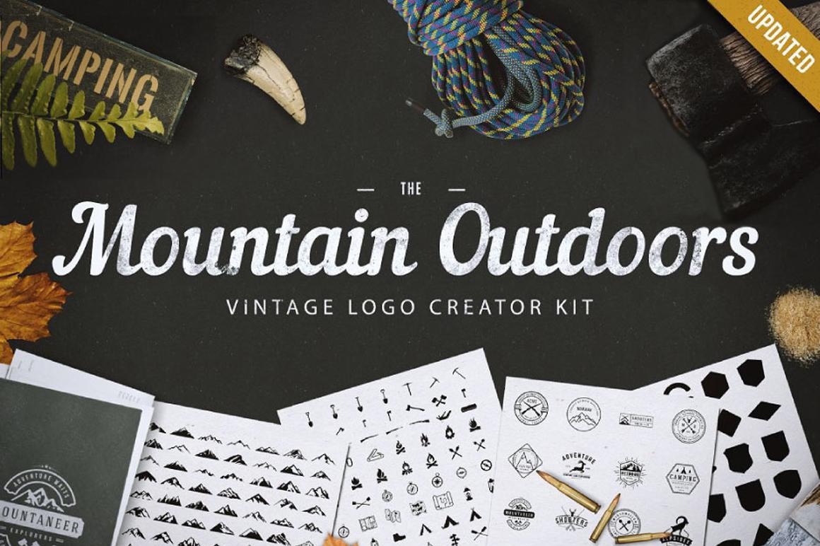 Best Premium Logo Design Font - Mountain Outdoor