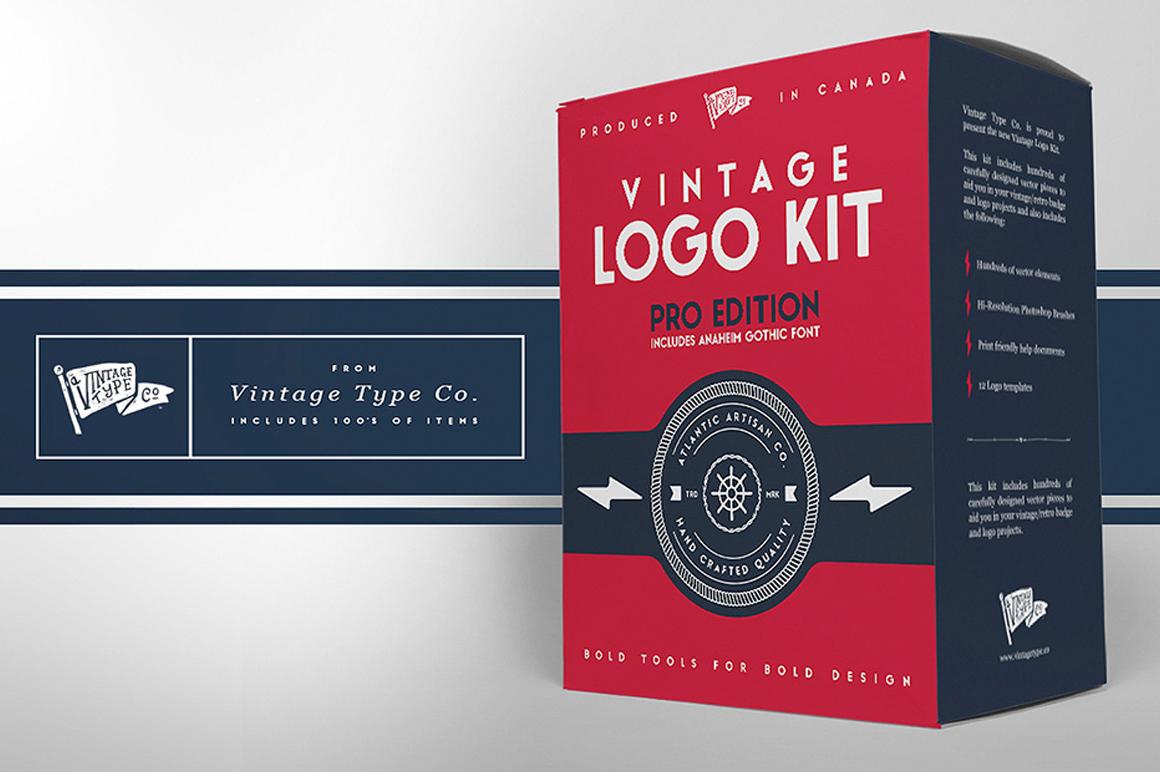 Best Premium Fonts - Vintage Logo Kit Pro