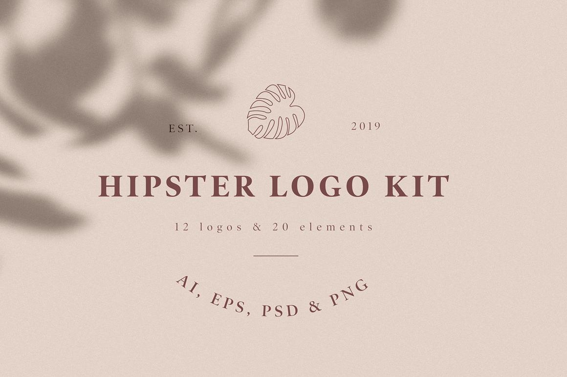 Best Premium Fonts - Hipster Logo Kit
