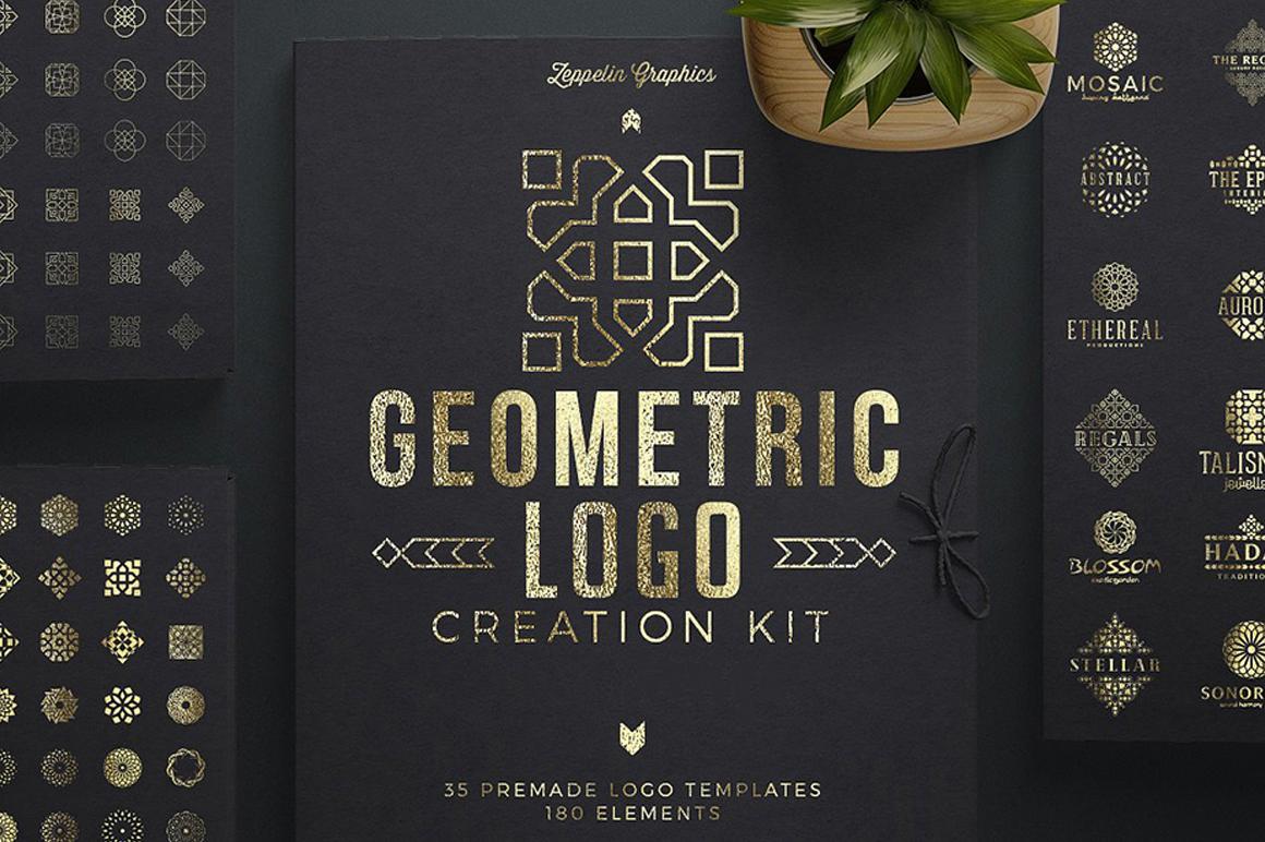 Best Premium Font - Geometric Logo Creation Kit