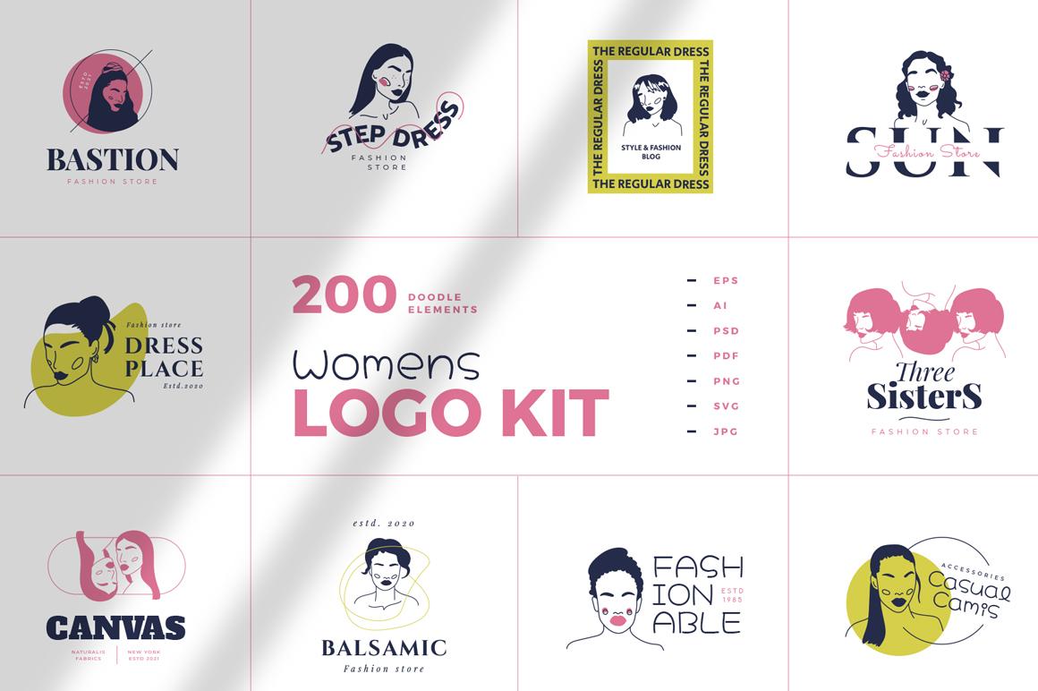 Premium For Logo Designing - Doodle Women's Logo Kit