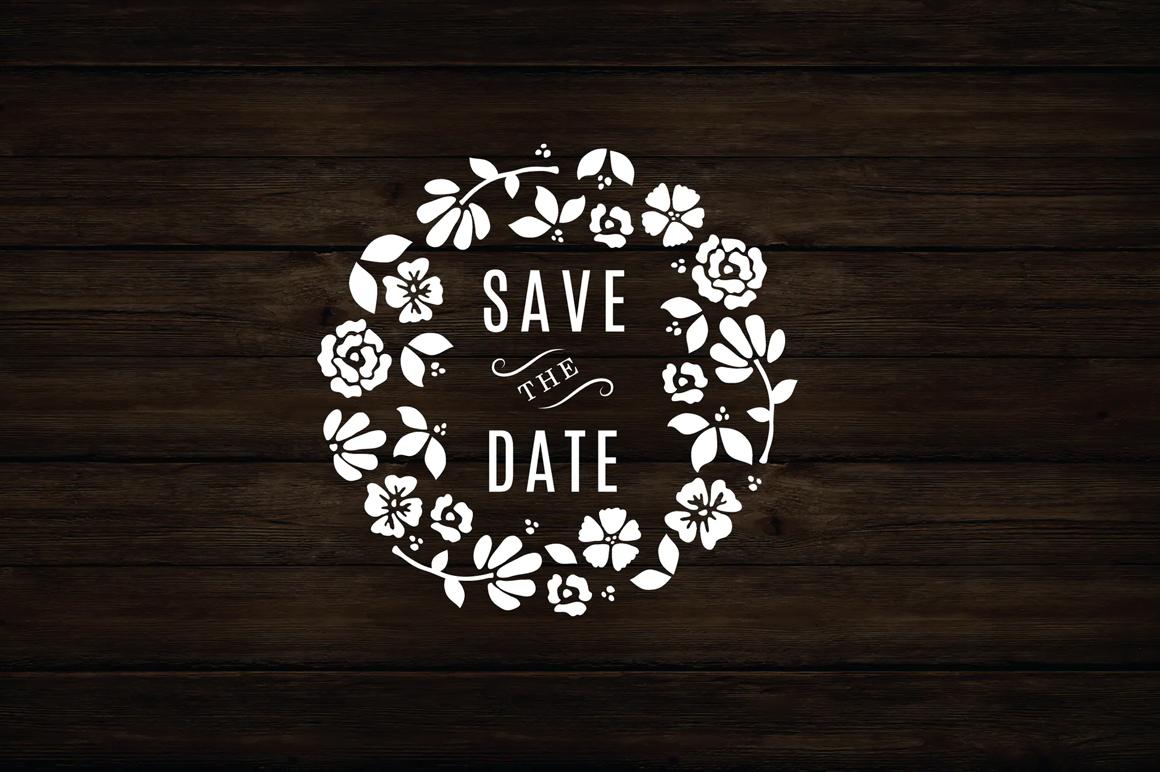 Premium For Logo Designing - Floral Wreath Save