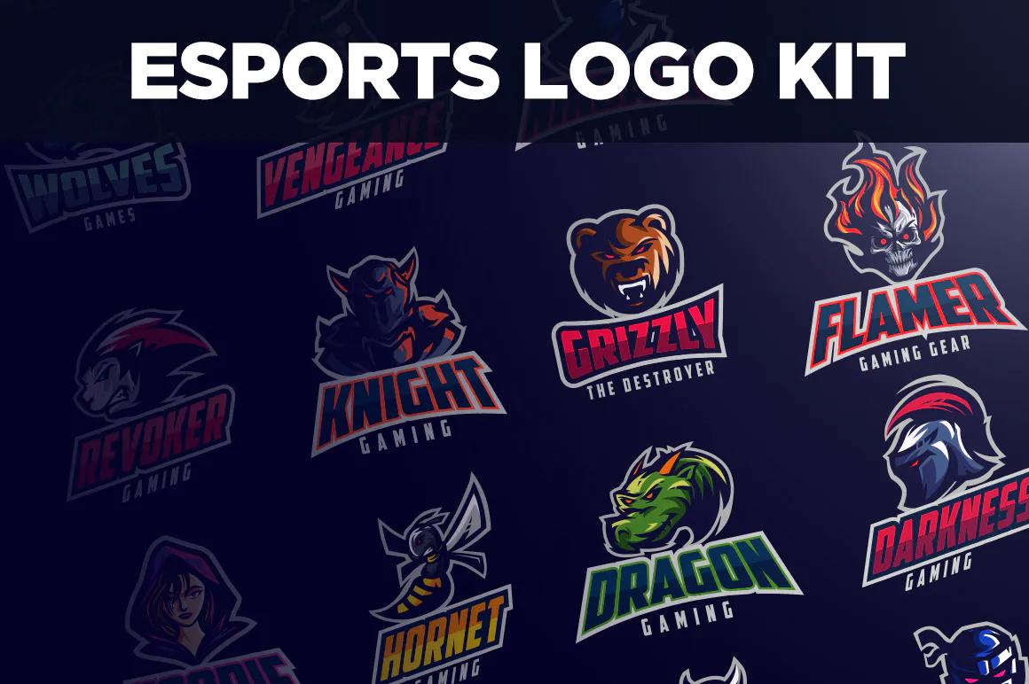 Best Premium Logo Design Font - Esports Logo Kit