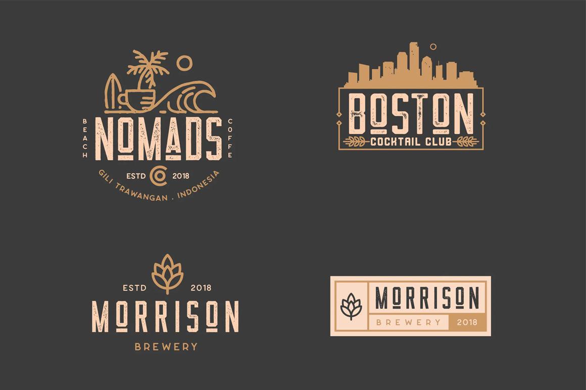 Best Premium Font - Badge Logo Kit