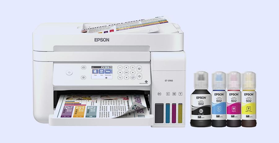 Best Color Printer - Epson EcoTank ET-3760
