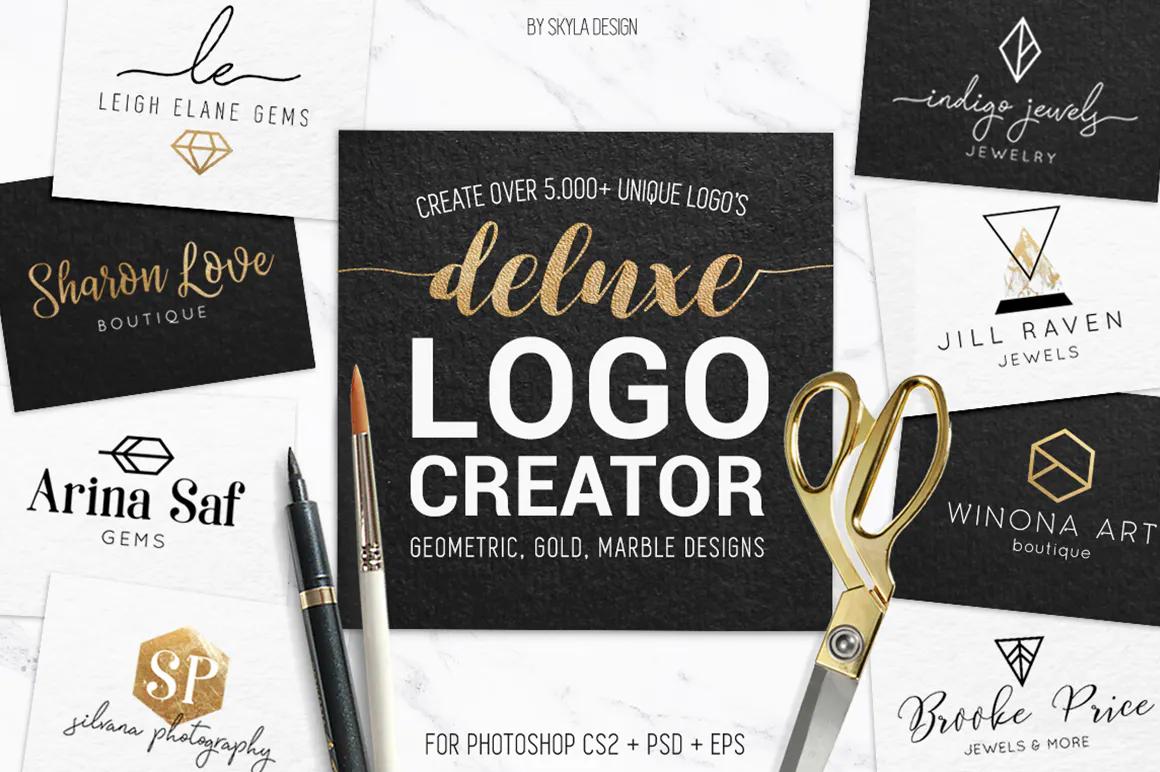 Best Premium Logo Design Font - Deluxe Gold Logo