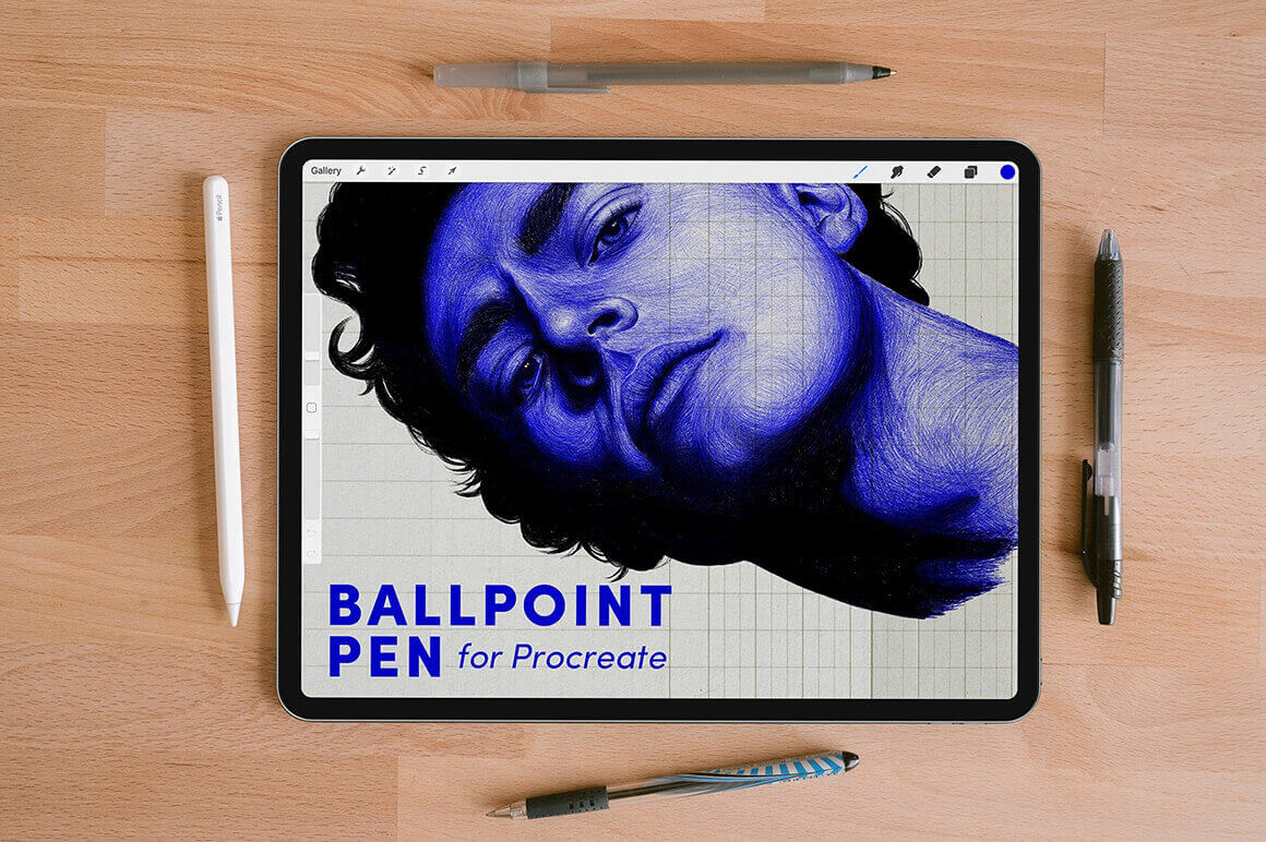 Procreate Texture Brush - Ball Point