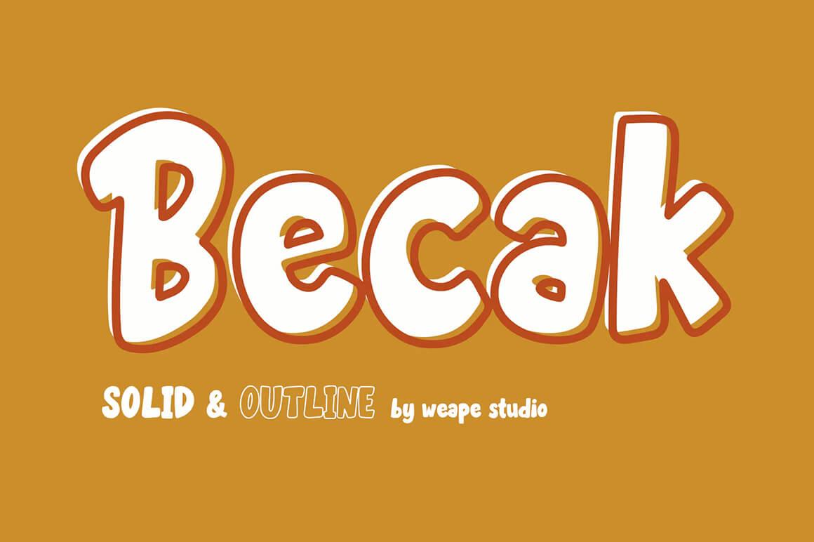 Becak - Free Outline Fonts