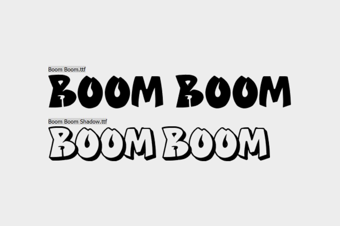 Graffiti Font - Boom Boom
