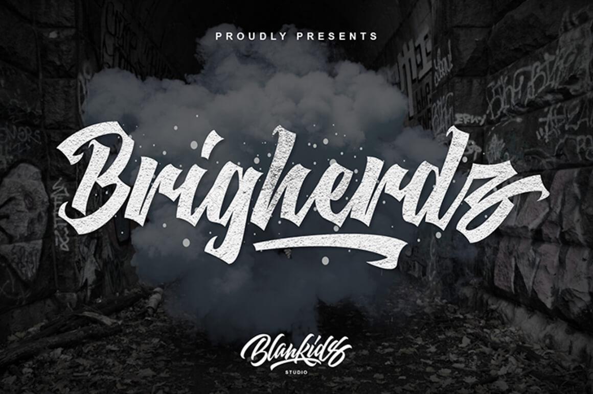 Free Graffiti Font - Brigherd