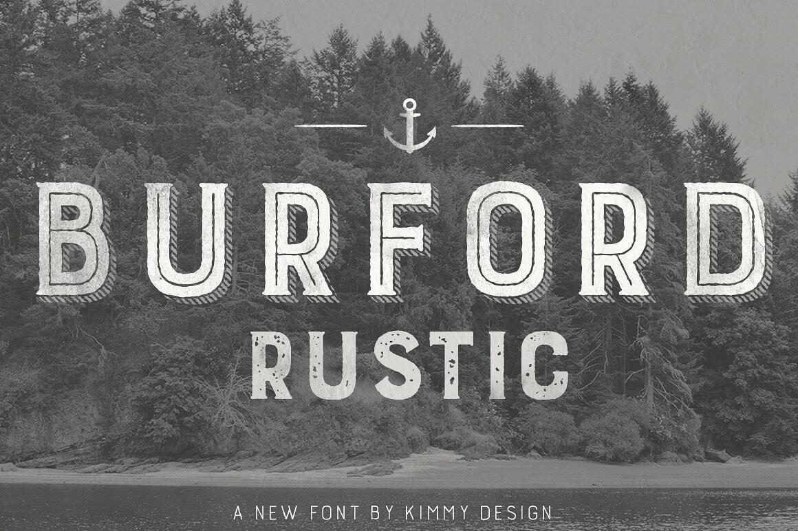 Burford Rustic Pro Font Family