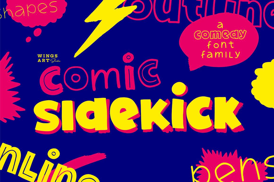 Comic Sidekick - Outline Fonts