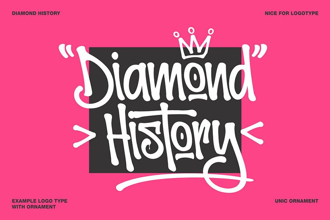 Graffiti Letters Font - Diamond Historry