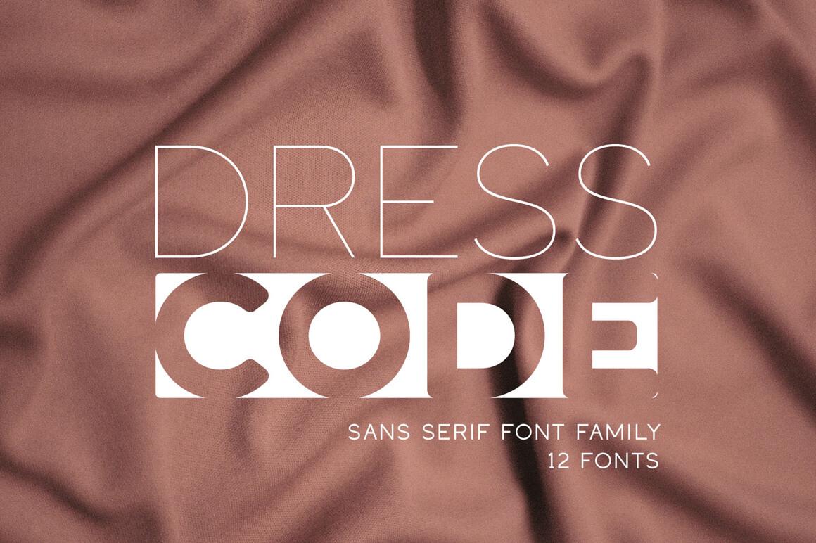 Dress Code – Font Family