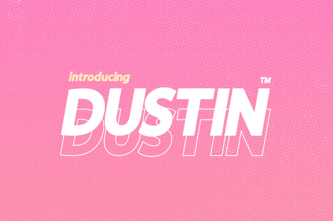 Dustin - Free Outline Font
