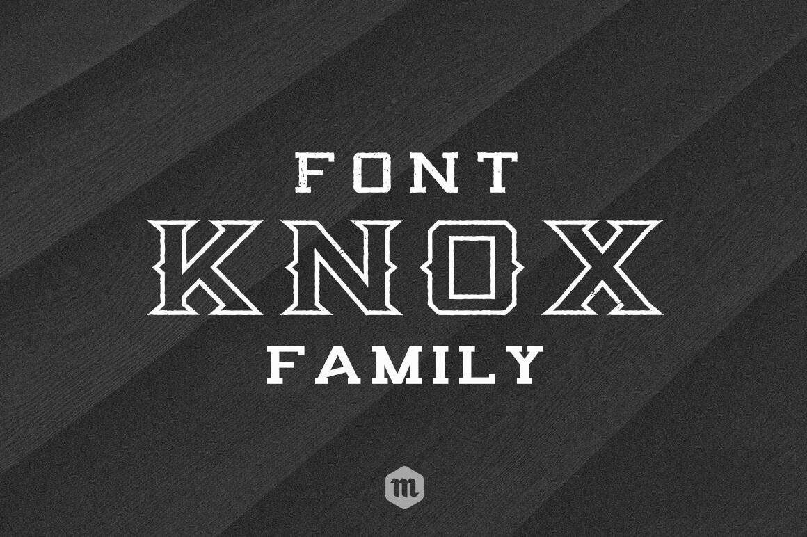 Knox Serif Typeface - Outline Font
