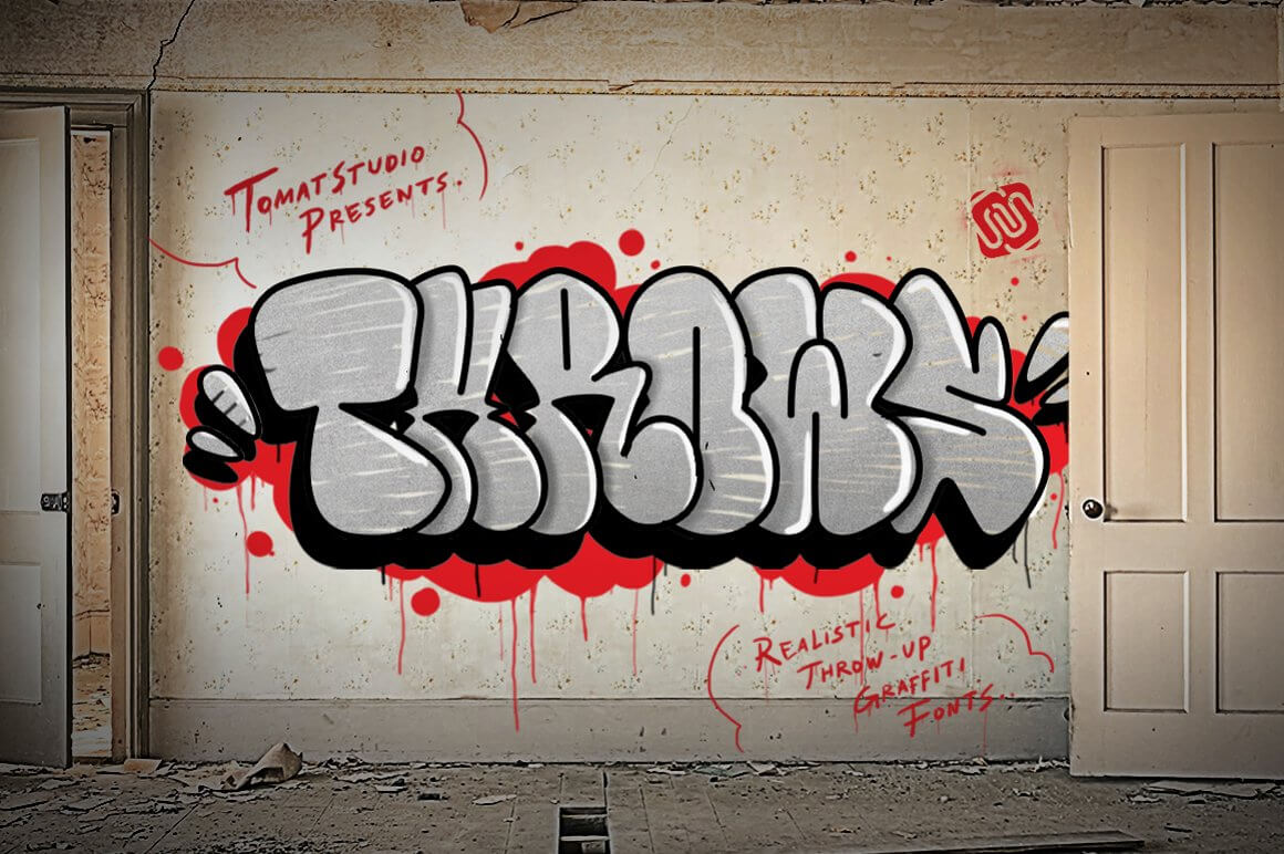 Graffiti Letters Font - Throws