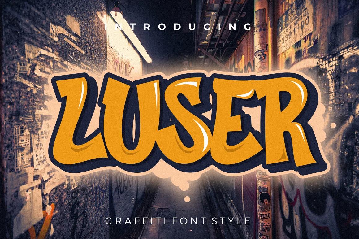 Graffiti Letters Font - Luser