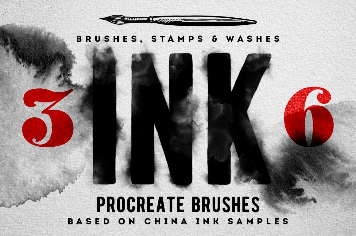 Texture Brushes - Procreate Ink Brushes