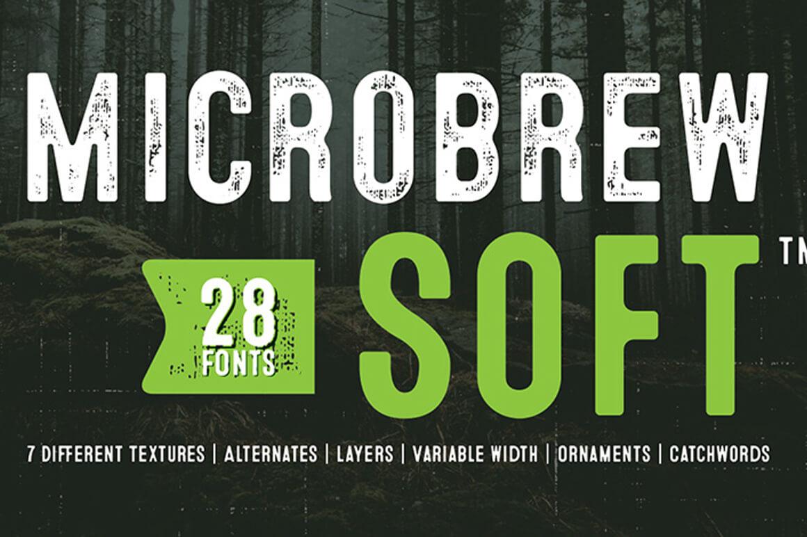 Microbrew Soft - Outline Font