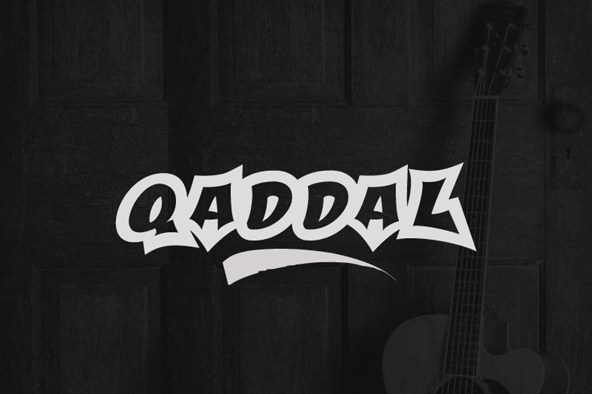 Free Graffiti Font - Qaddal
