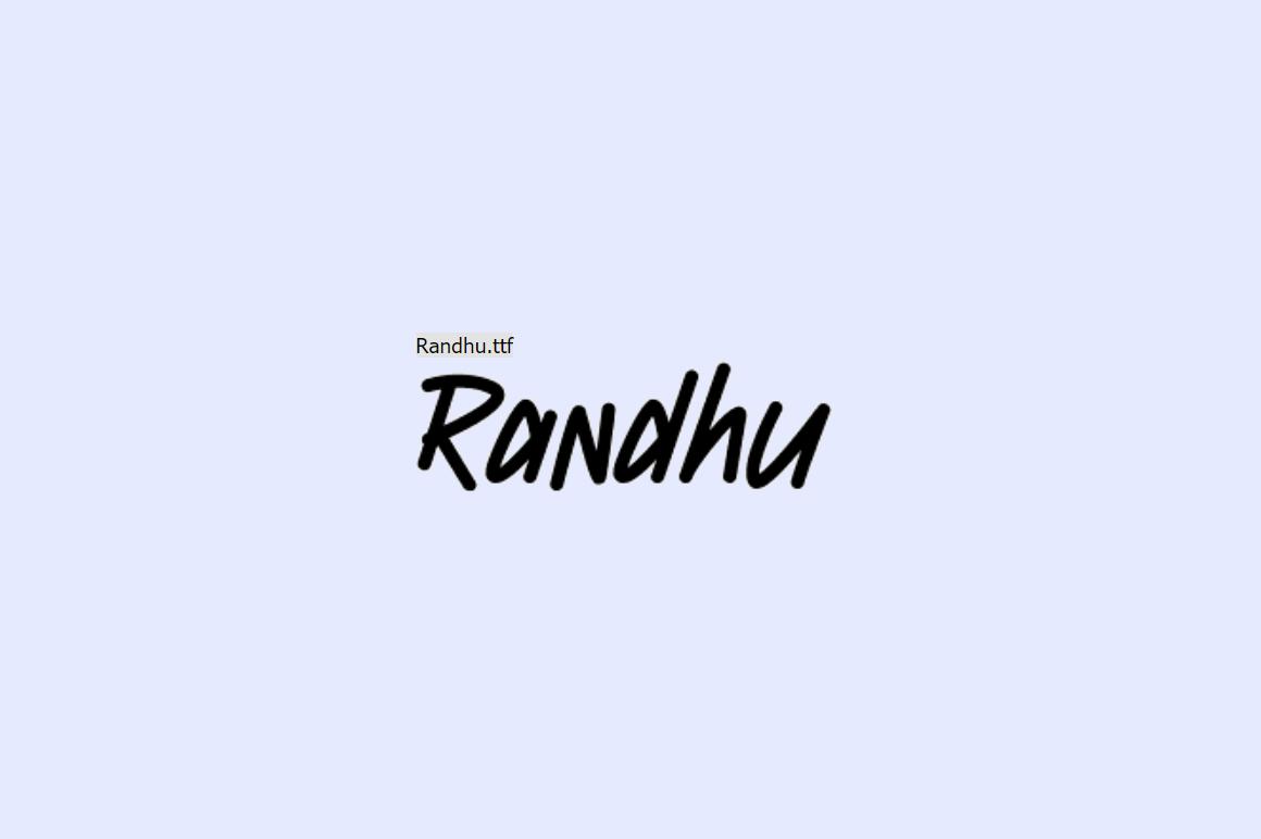 Free Graffiti Fonts - Randu