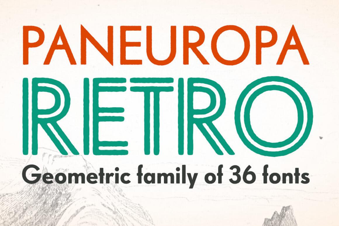 Paneuropa Retro - Outline Font