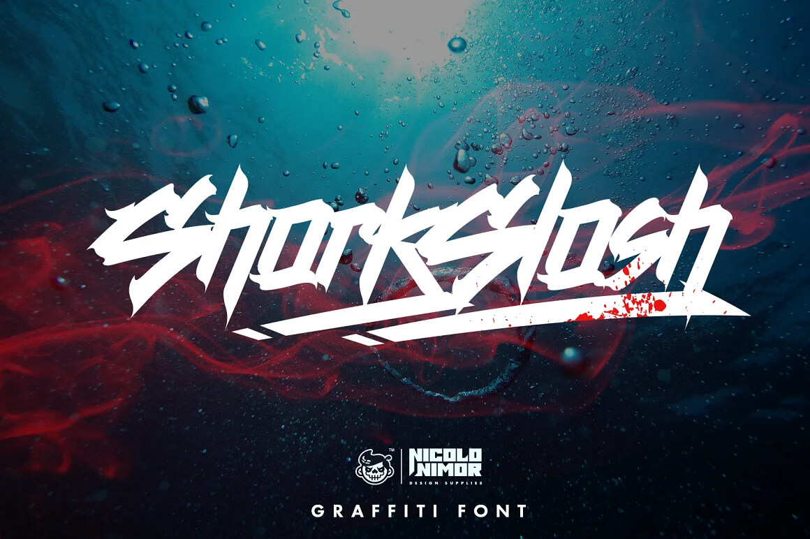 Graffiti Letters Font - Shark
