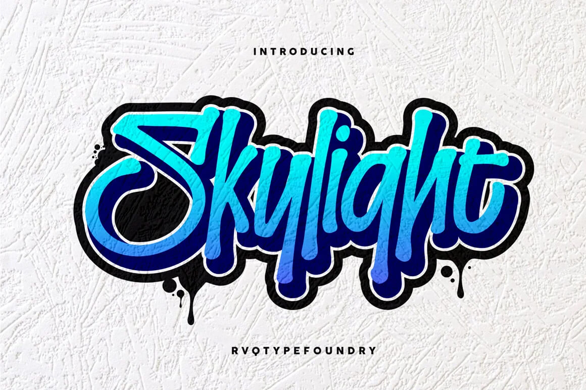 Graffiti Font - Skylight