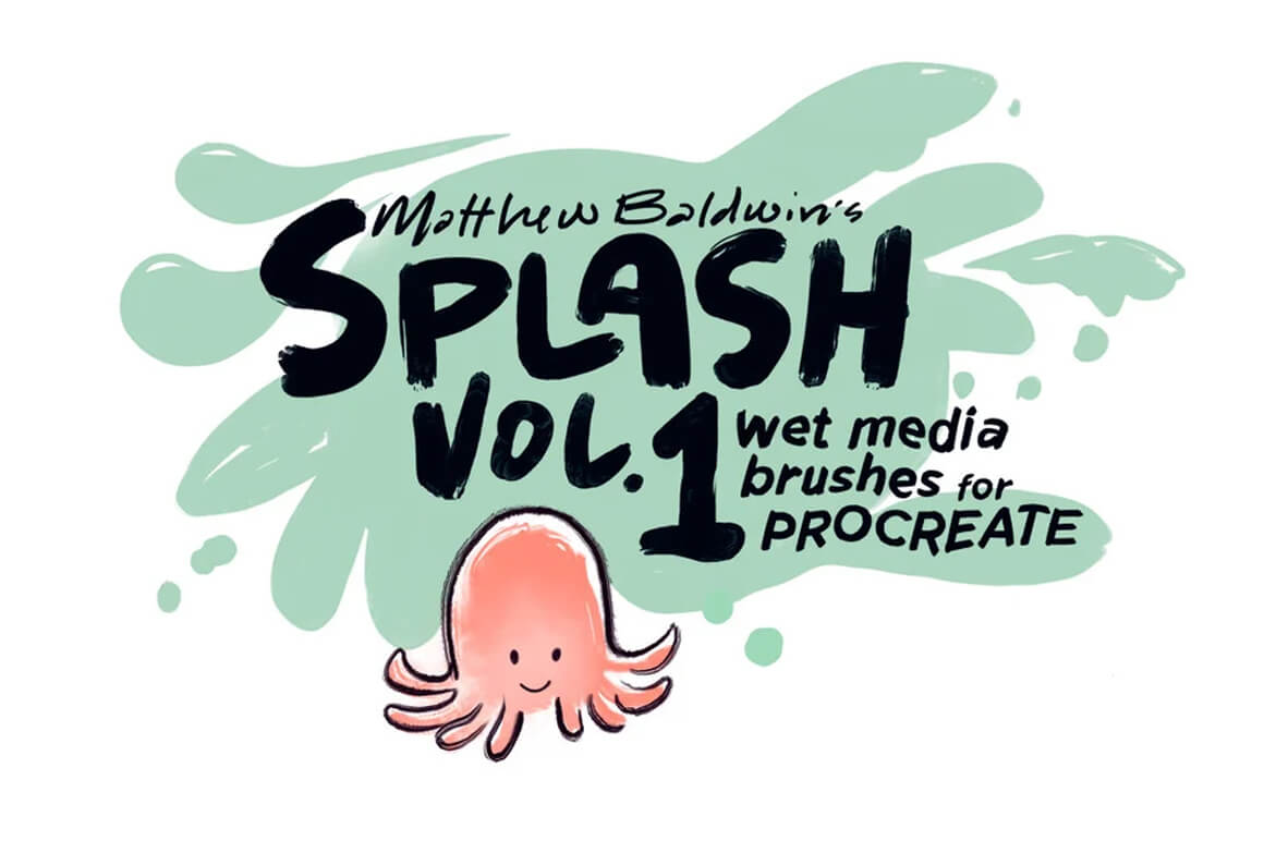 Texture Brushes For Procreate - Wet Media Brushes