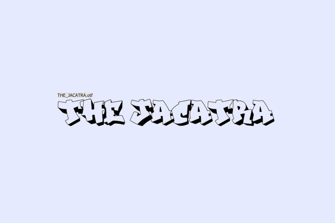 Free Graffiti Font - The Jacatra