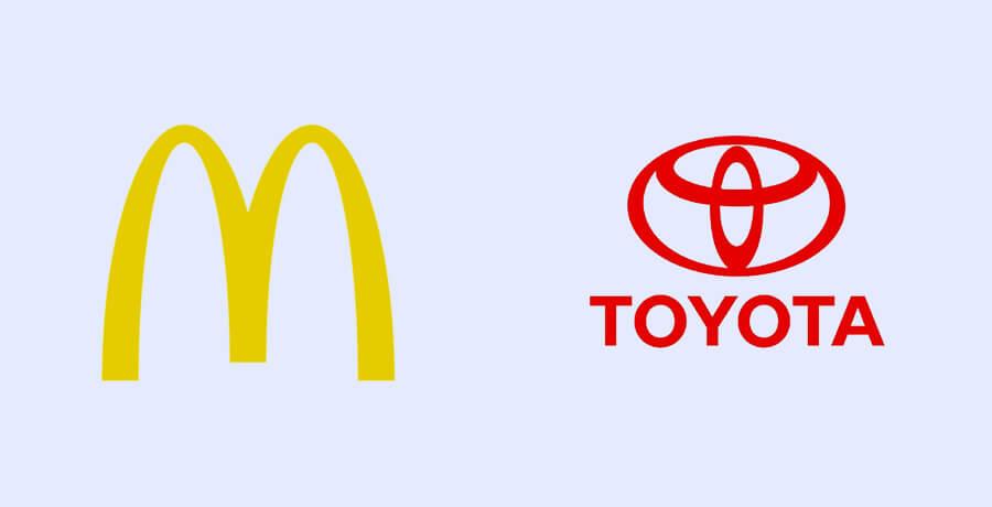 Logo Design Trends - Toyota Mcdonalds
