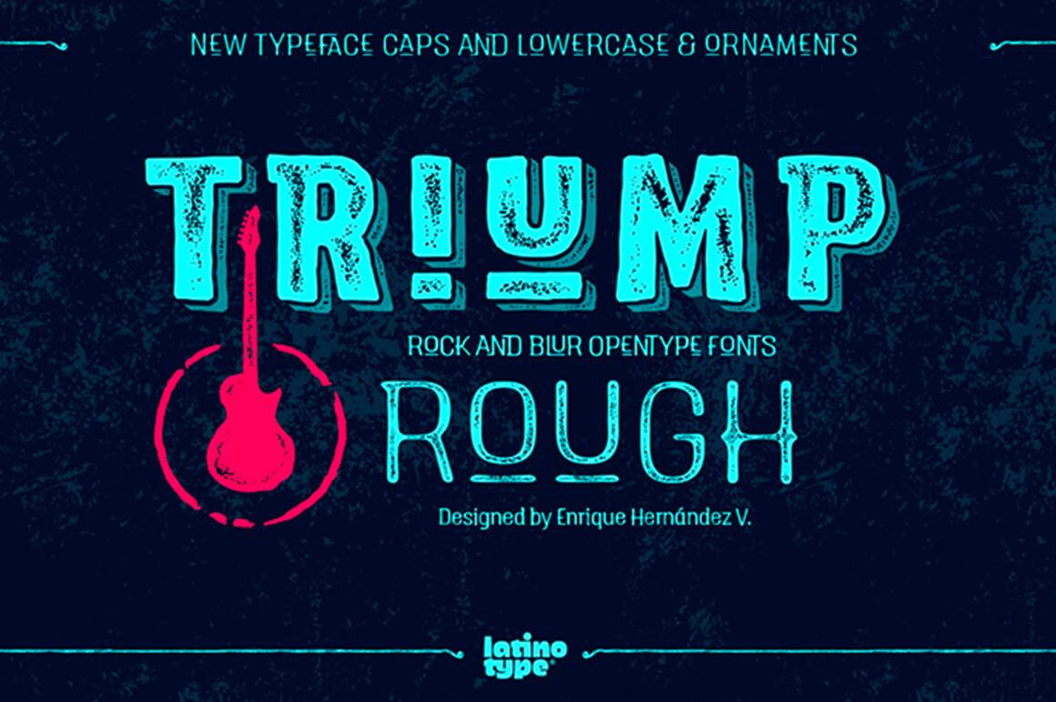 Triump Rough Font Family