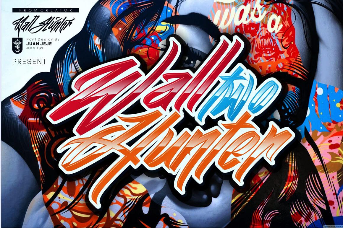 Graffiti Font - Wall Hunter